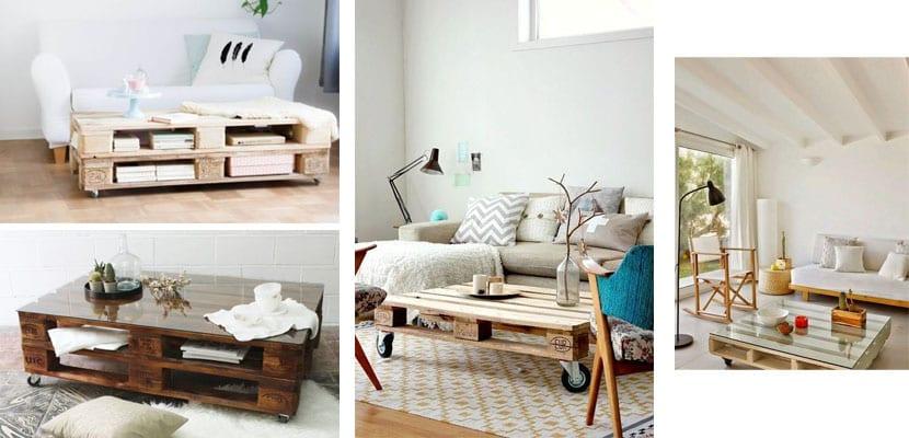 Mesas con palets