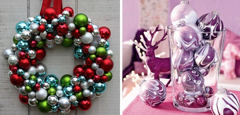 Detalles decorativos con bolas