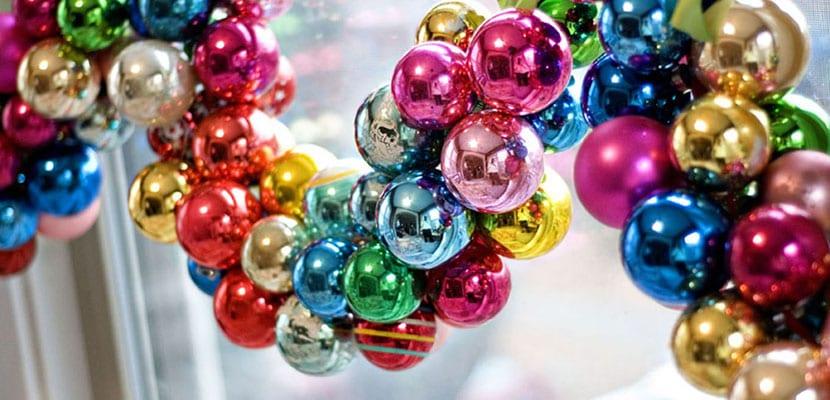 Guirnalda de bolas de navidad