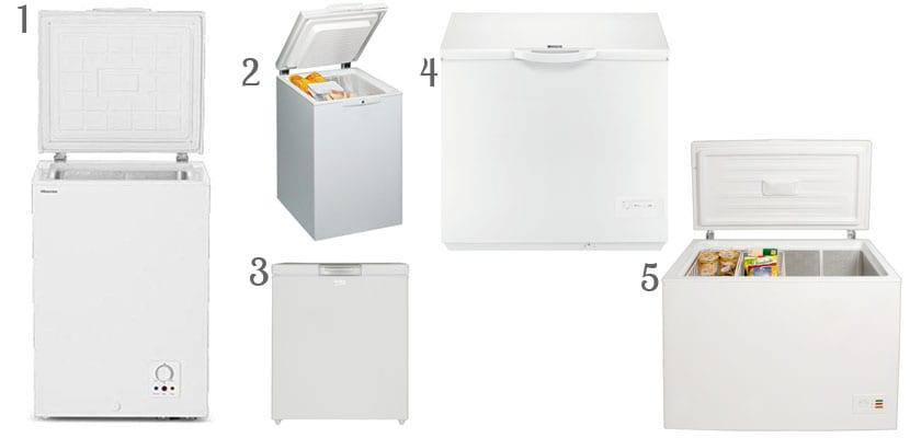 Congeladores pequeños horizontales
