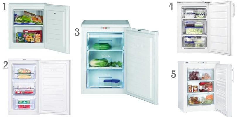 Congeladores pequeños verticales