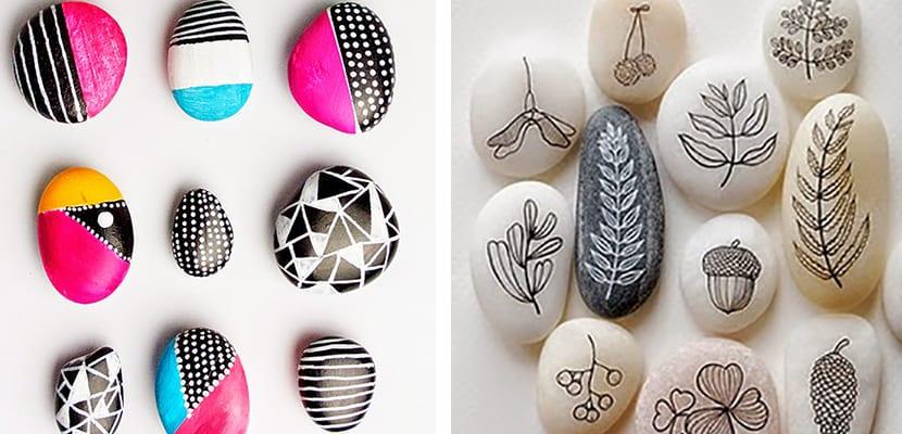 Piedras pintadas decorativas