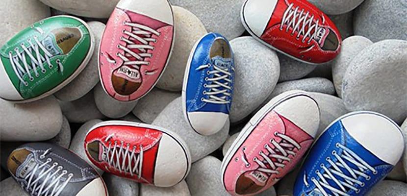 Piedras tipo zapatillas