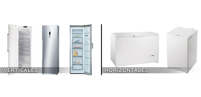 Tipos de congelador