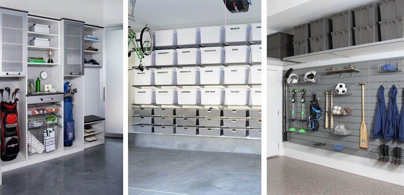 Almacenamiento abierto para un garaje moderno