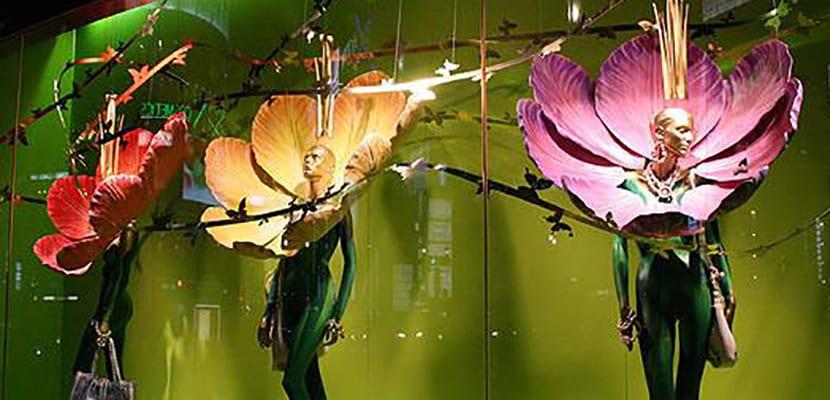 Escaparates de flores