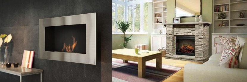 salones con estufas decorativas