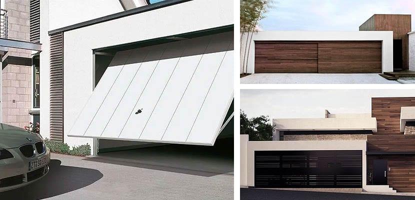 Puertas para un garaje moderno