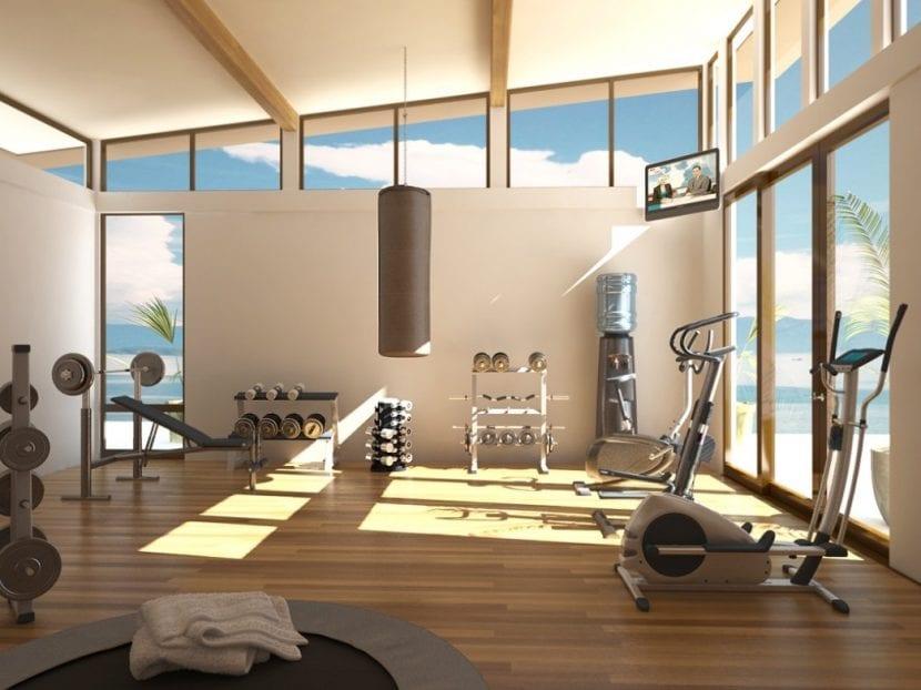 diseño de un gimnasio en casa