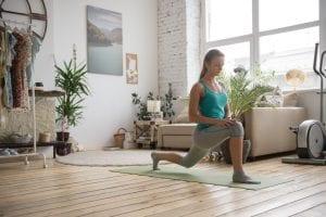 sala adaptada para hacer yoga