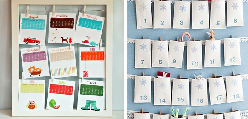 Calendario colgante