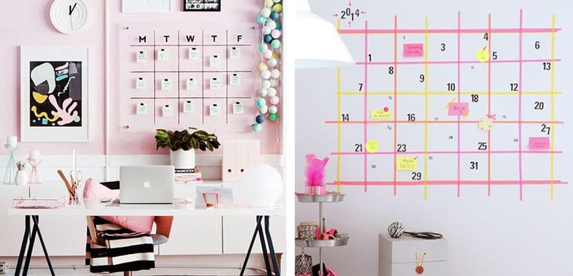 Calendario para oficina en casa