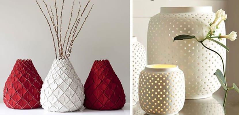 Decorar el hogar con bonitos jarrones decorativos - Jarrones plateados ...