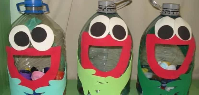 Almacenaje con botellas de plástico