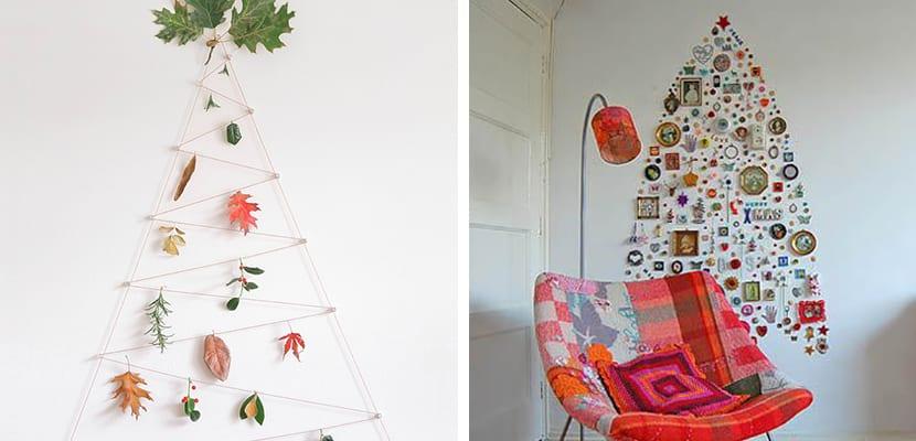 Árboles de Navidad en las paredes