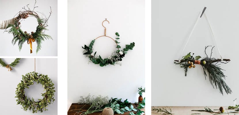 Coronas de Navidad fáciles para puerta