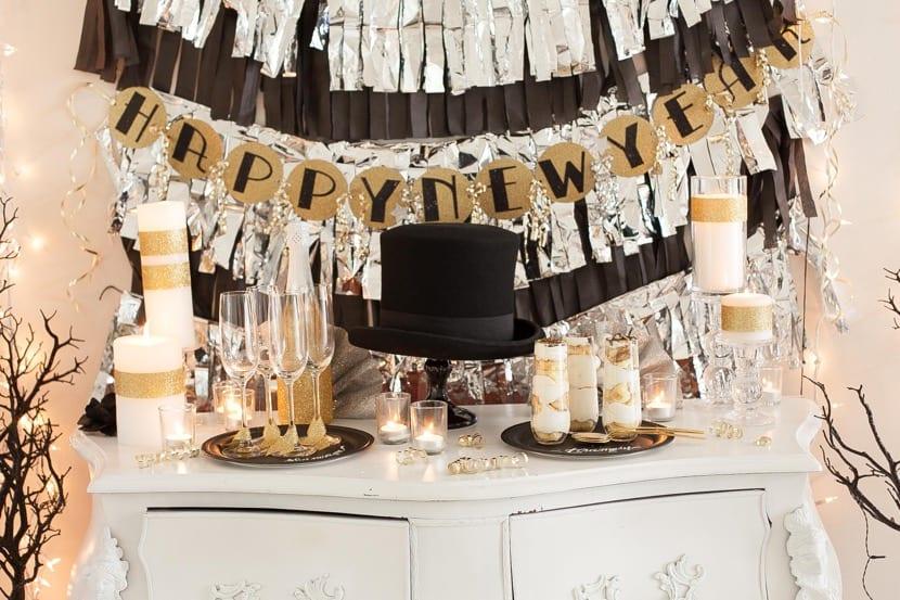 decoracion para el salon de año nuevo