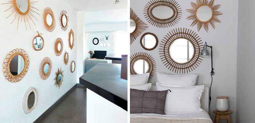 Bonitos espejos decorativos para decorar tu hogar - Espejos de mimbre ...
