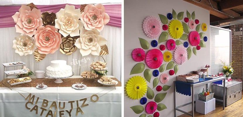 Flores en paredes