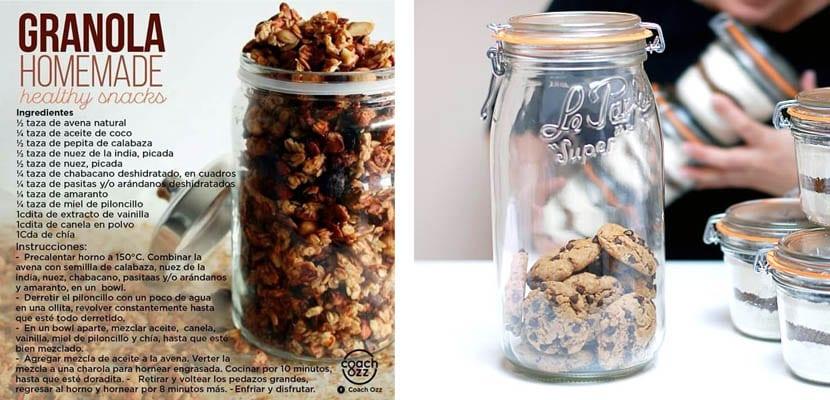 Trros de granola o galletas para regalar