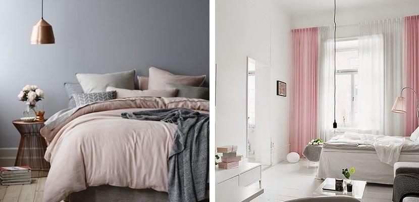 Textiles rosa pastel