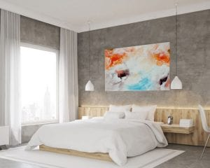 cuadros abstractos para decorar el dormitorio