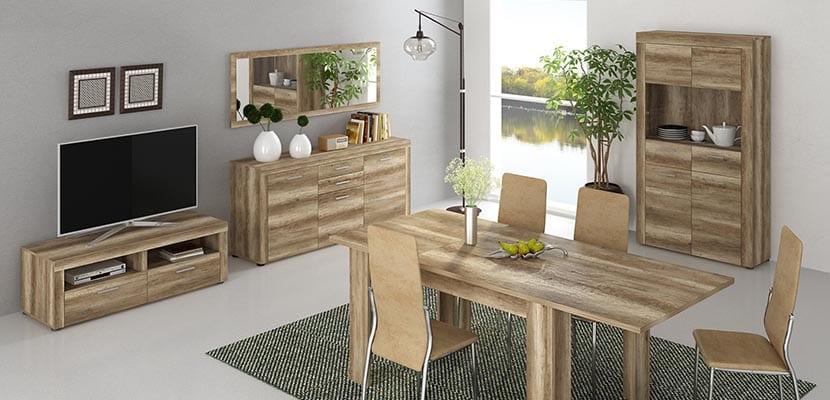 Muebles en los espacios