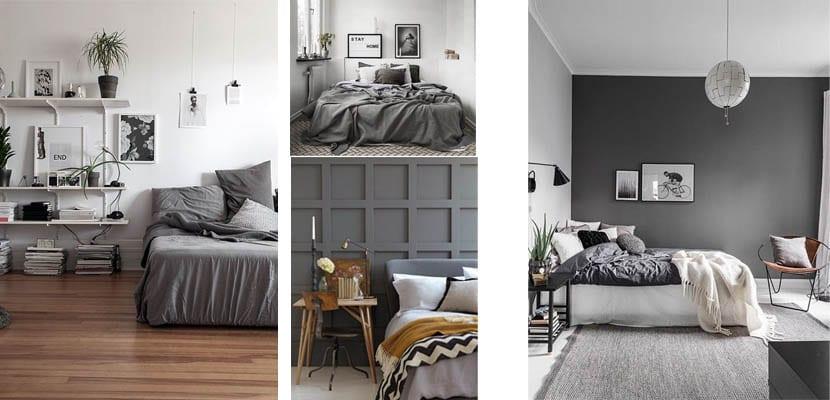 Dormitorios gris marengo