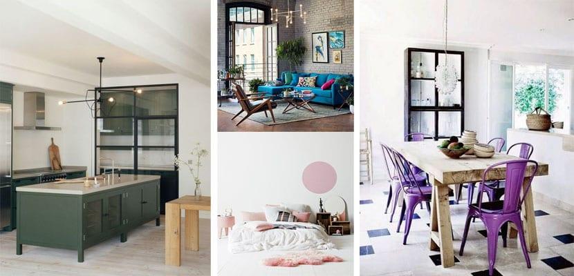 Muebles y accesorios en colores fríos