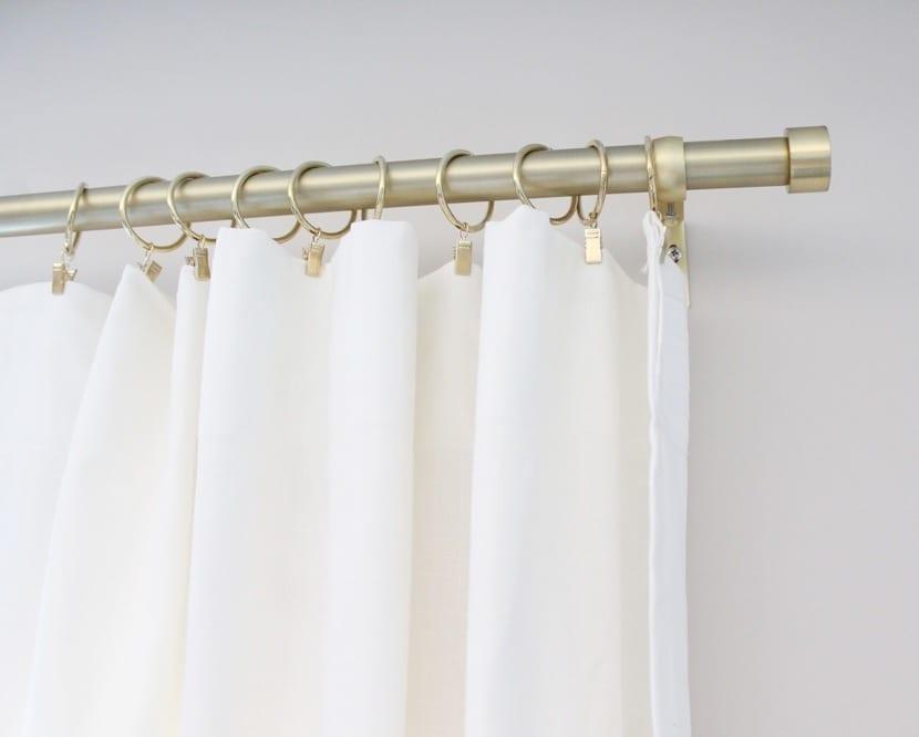barras de cortinas para decorar