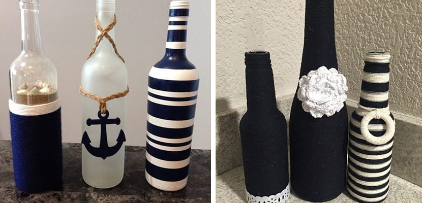 Botellas de estilo marinero