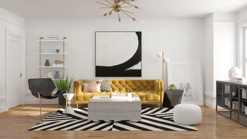 color dorado inspirado en los años 70