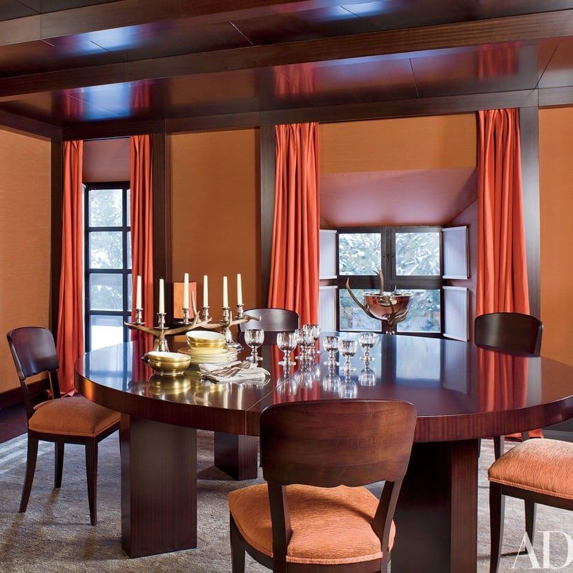 colores anaranjados inspirados en los años 70