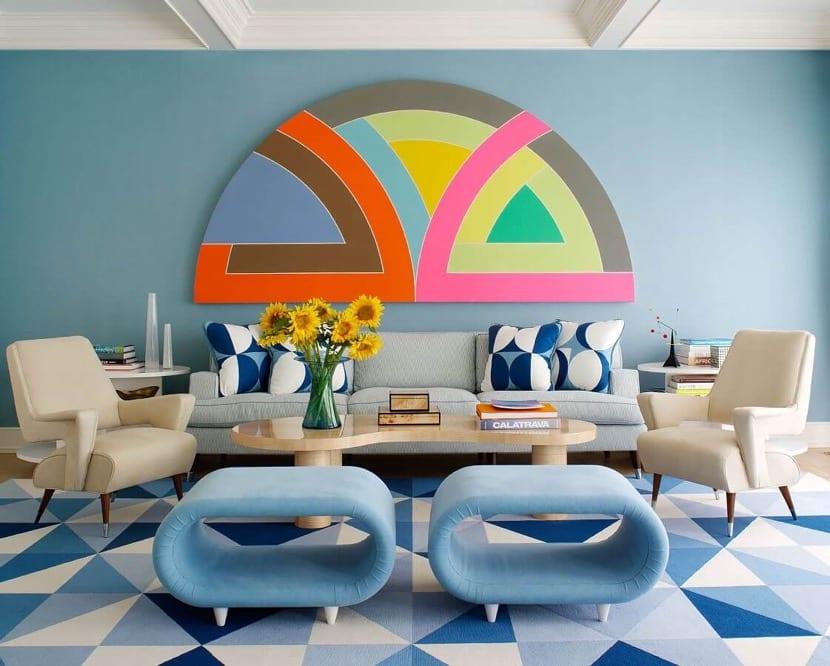colores inspirados en los años 70