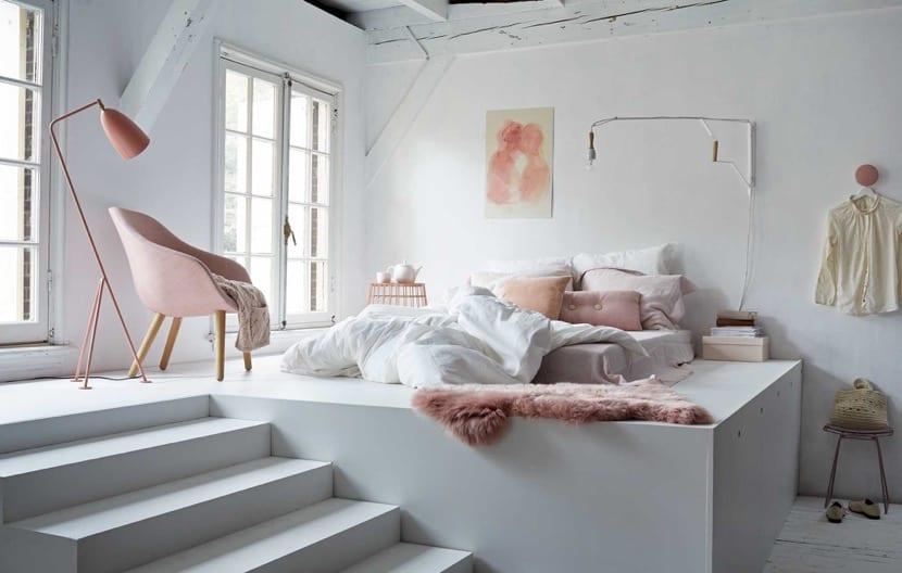 dormitorio con decoracion hygge