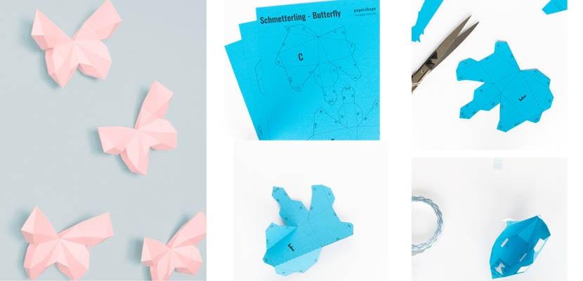 Mariposas de papel de origami