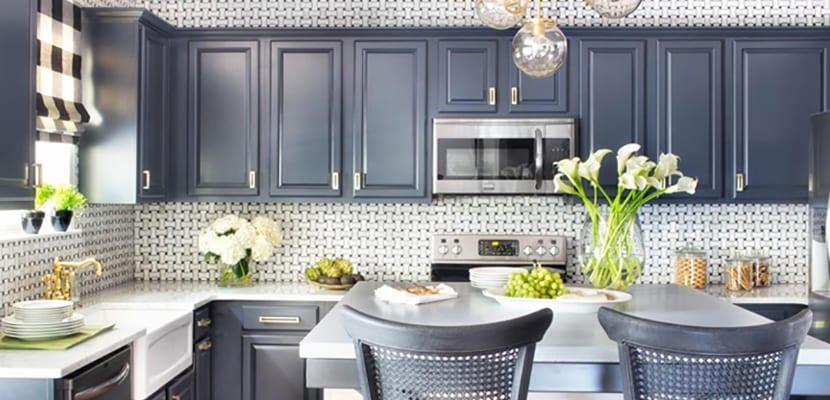 C mo pintar los muebles de cocina - Pintar encimera cocina ...