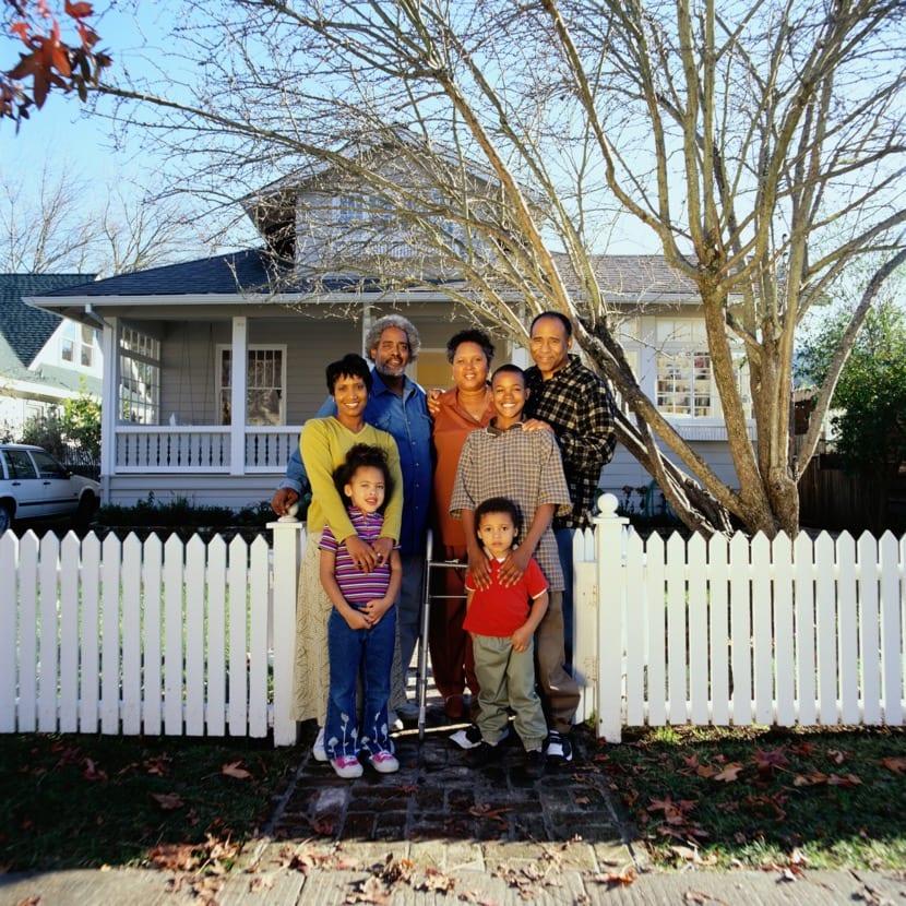 familia que vive en un mismo hogar