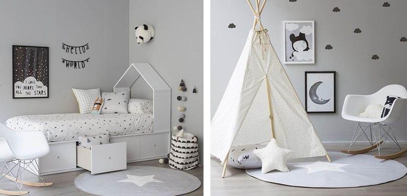 Láminas en el dormitorio infantil