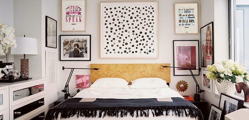 Láminas en el dormitorio
