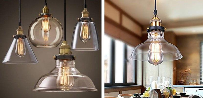 Lámparas industriales de cristal