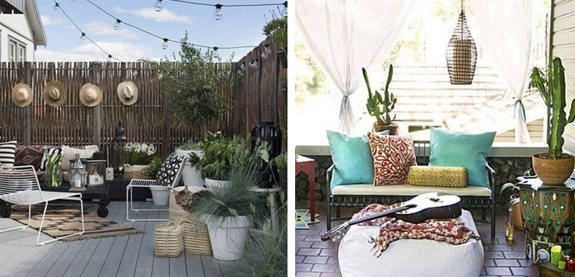 Patio boho chic