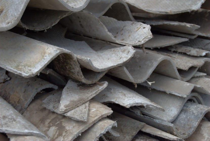 asbesto tejas viejas