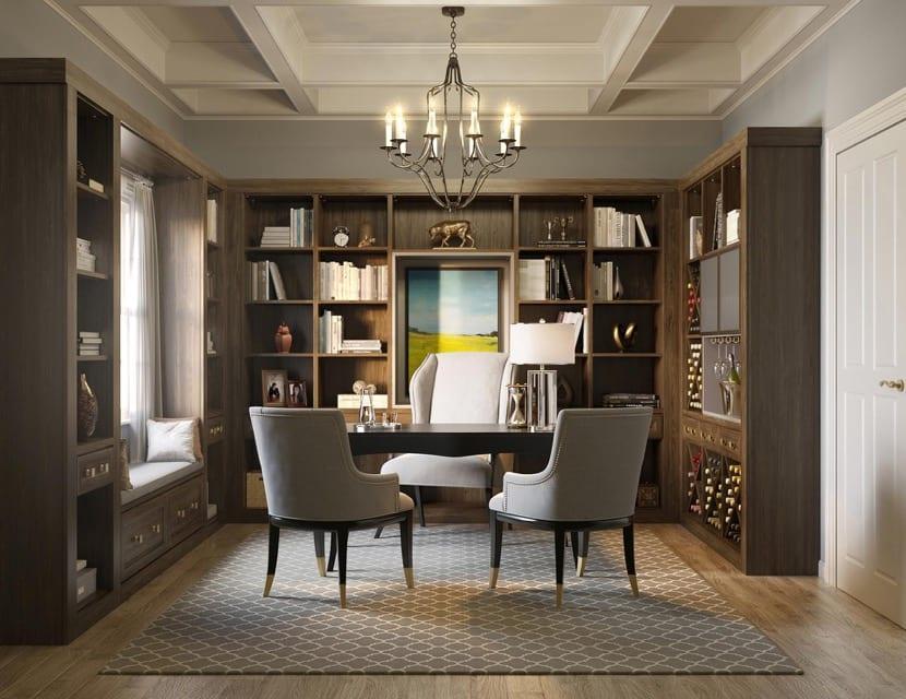 biblioteca en sala de estar
