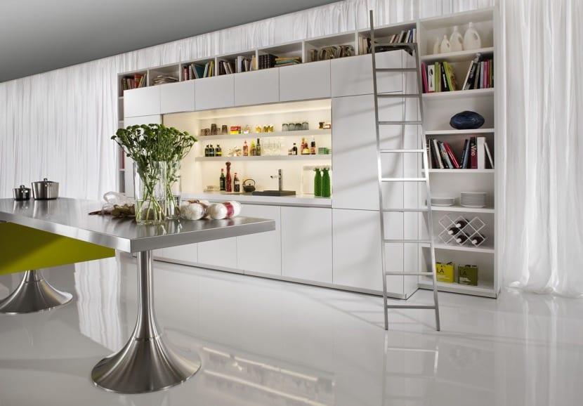 biblioteca en la cocina