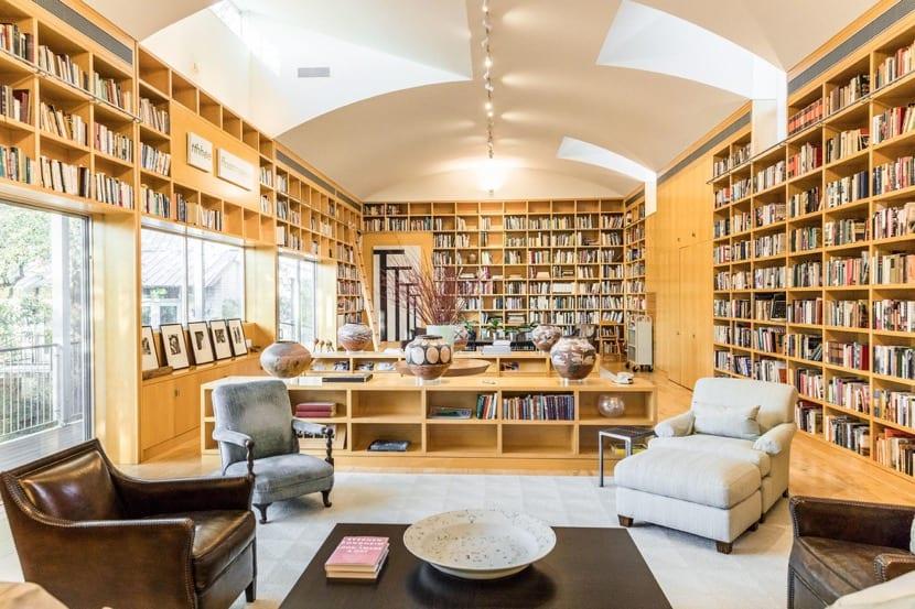 gran biblioteca en casa