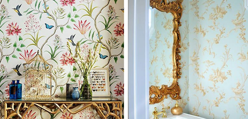Papel antiguo floral