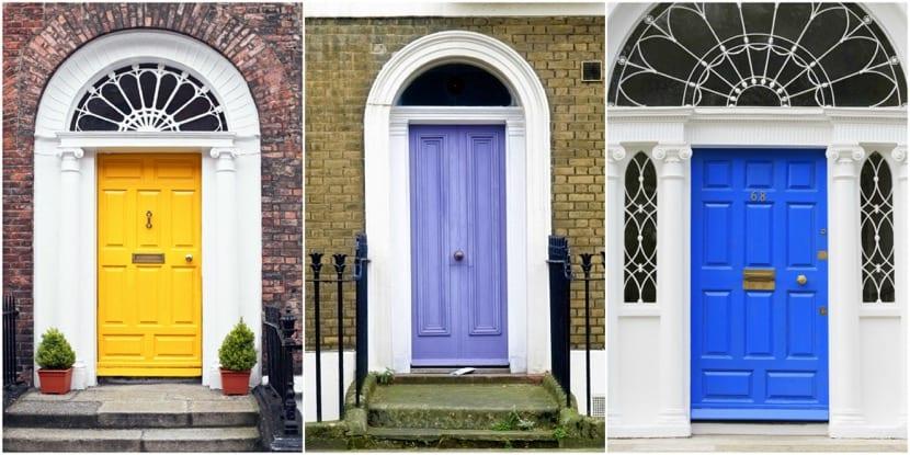 puerta de entrada varios colores
