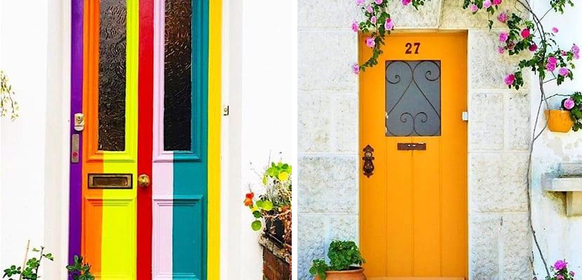 Puertas coloridas