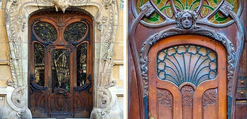Puertas de estilo modernista